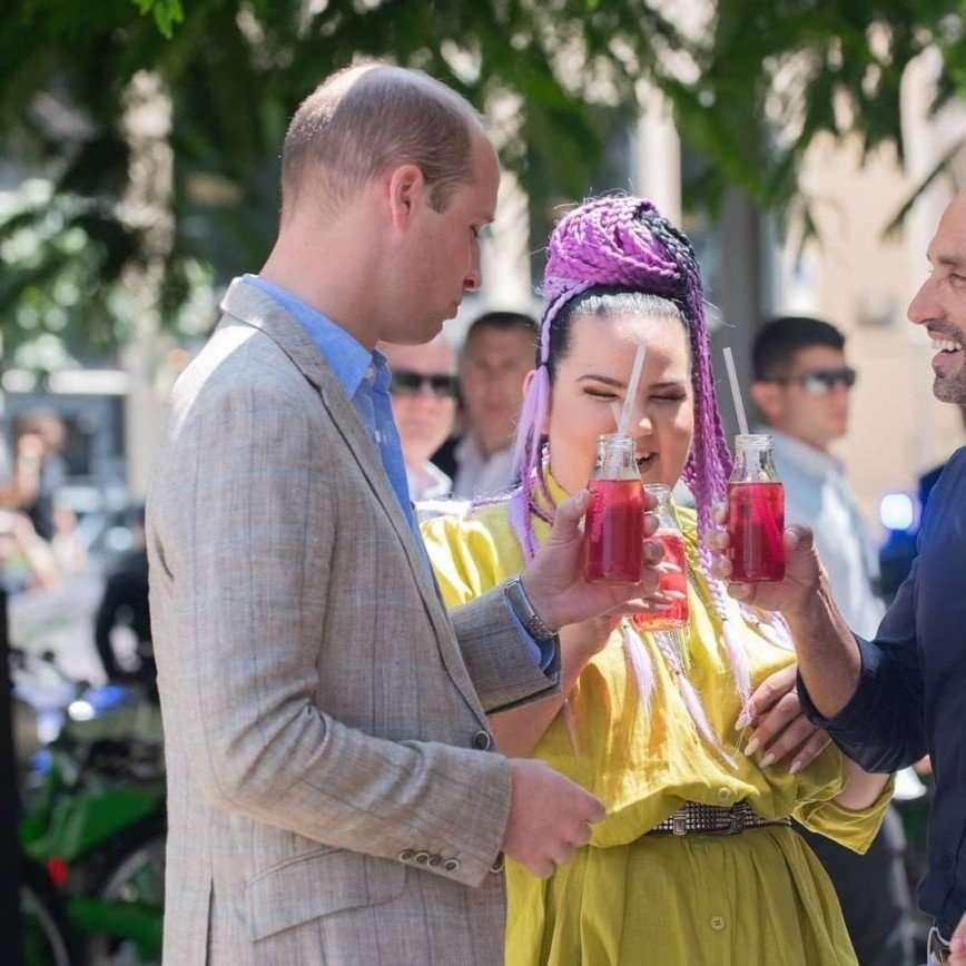 Принц Уильям встретился в Израиле с победительницей «Евровидения»