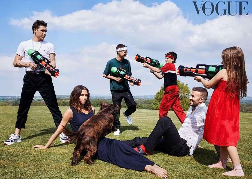 10 лет бренда: семья Бекхэмов стала главной темой глянцевого журнала