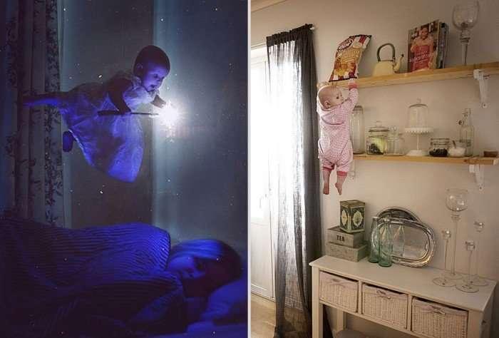 Отец фотографирует свою дочь в самых сумасшедших ситуациях