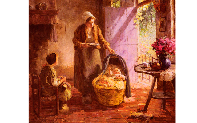 Что может быть чудесней слова - Мама?
